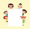 Cartoon children frame