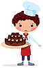 Vector clipart: Scullion with cake