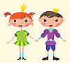 Vector clipart: Prince and Princess