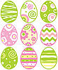 Set of easter eggs | Stock Vector Graphics