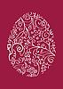 Czerwony koronkowy pisanka | Stock Vector Graphics