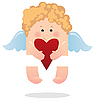 Vector clipart: Angel and heart