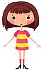 Vector clipart: Funny girl