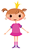 Vector clipart: Cartoon princess