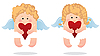 Vector clipart: Two angels