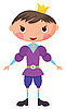 Vector clipart: Cartoon prince