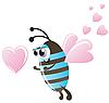 Pszczoła i serca | Stock Vector Graphics
