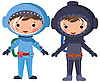 Vector clipart: astronaut and diver