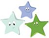 Векторный клипарт: Смешные звезды мультяшный
