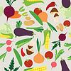 Vector clipart: Vegetable seamless