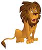 Vector clipart: Cartoon lion