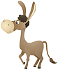 Fun cartoon donkey | Stock Vector Graphics