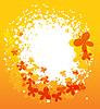 Векторный клипарт: Бабочка лето фон