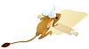Векторный клипарт: повар-тушканчик раскатывает тесто
