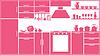 Векторный клипарт: Розовый силуэт кухня