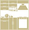 Vector clipart: Kitchen silhouette