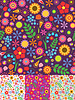 Vector clipart: Floral seamless patterns