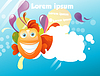 Vector clipart: Funny abstract background fish
