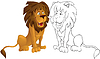 Cartoon león | Ilustración vectorial