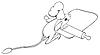 Vector clipart: Сook jerboa unrolls dough