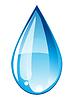 Vector clipart: Blue drop