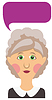Elderly woman and bubble