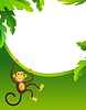 Vector clipart: Frame with monkey
