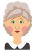Vector clipart: 1228-Elderly woman