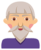 1231-Cartoon elderly man