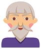 1231-Cartoon elderly man