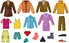 Vector clipart: Mens clothing collection