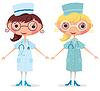 Векторный клипарт: Медсестра со стетоскопом