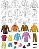 Векторный клипарт: Мужская коллекция одежды