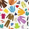 Векторный клипарт: Бесшовные одежды