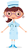 Vector clipart: Nurse with stethoscope