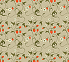 Vector clipart: Seamless patterns with strawberries