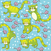 Vector clipart: Funny cats and mice - seamless background