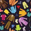 Vector clipart: Seamless clothes