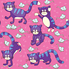 Funny cats and mice - seamless background