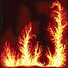 Vector clipart: Frame of fire