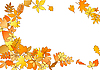 Vector clipart: Autumnal frame with different colourful leaves