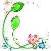 Vector clipart: Spring flower corner
