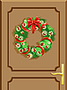 Vector clipart: Christmas door