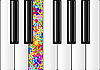 Classic Piano With Colorful Key