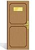 Vektor Cliparts: hölzerne Tür