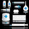 Vector clipart: Medical icon set