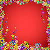 Vector clipart: Frame of Colorful Flowers
