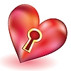 Vector clipart: heart with keyhole
