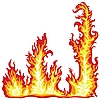 Vector clipart: fire flame