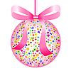 Vector clipart: Pink Ball of Colorful Flowers with Bow